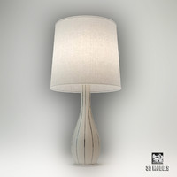 3d model swan line table lamp