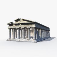 3d greek temple model