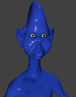 3d funny alien rigged model