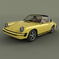 porsche 911 targa 1974 3d model