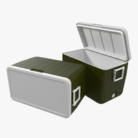 3d 48 quart cooler green