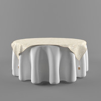 3d model table tablecloth cloth