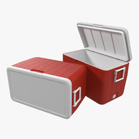 48 quart cooler red 3d 3ds