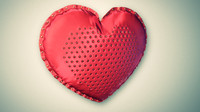 3d heart pillow model