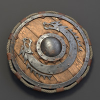 viking shield 3d max