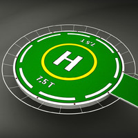 helicopter pad 3d model