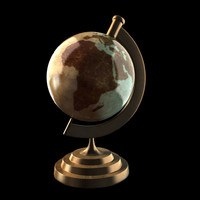 globe cartoon 3d model