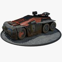 maya futuristic armored personal