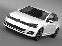 3d golf tdi bluemotion 3 model