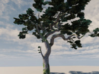 3d model tree engine leaves