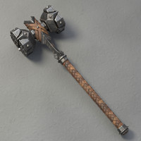 dwarf hammer 3d model