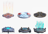 6 sci fi turntables obj