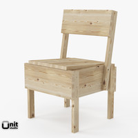 3d model of sedia 1 chair artek