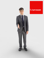 3d model man businessman