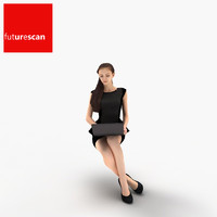 3d woman businesswoman business model