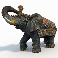 3d elephant statue