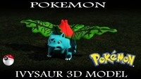 3d ivysaur pokemon model