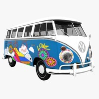 transporter hippie van 3d model