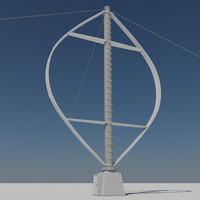 3d - vertical wind turbine model