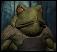frog warrior 1 3d model