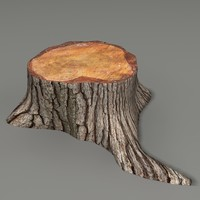 tree stump 3d max