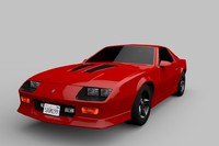 3d model chevrolet camaro z28 targa