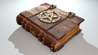 3d model grimoire - book spells