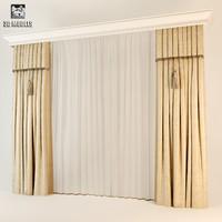art deco curtains 3d model