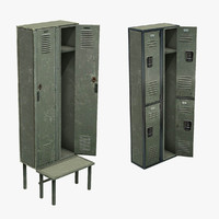 3d model set lockers