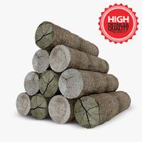 3d firewood set modeled