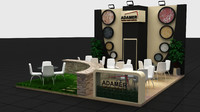 fair stand exhibition wooden max