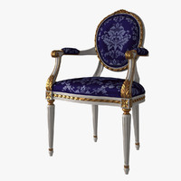 3d french louis xvi oval