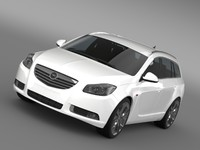 3d 3ds opel insignia biturbo sports