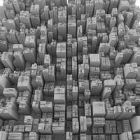 cityscape landscape 3d max
