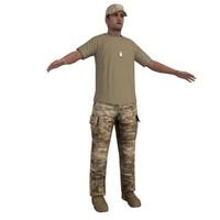soldier 2 3d model
