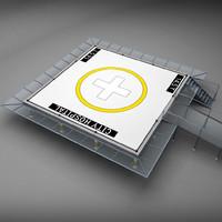 3d model squared pad