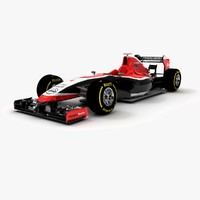marussia mr03 3d model