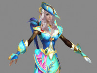 nobility elf mage 3d model