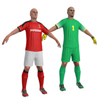 3ds max pack soccer player