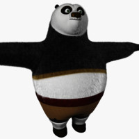 kung fu panda fur 3d model