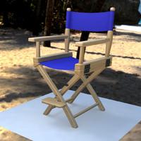 directors chair 3d ma
