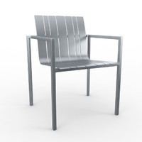 3d pure alu solpuri chair model