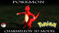 charmeleon pokemon 3d model