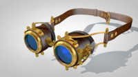 steampunk googles 3d obj