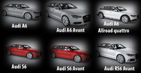 Collection of Audi A6 cars