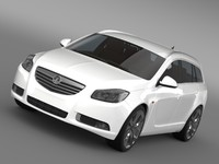 3d vauxhall insignia sports tourer