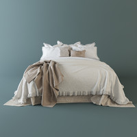 3dsmax bedclothes bed