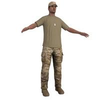 3d model soldier 2
