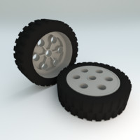 free lego technic wheel 3d model