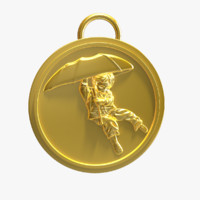 umbrella boy medal 3d model